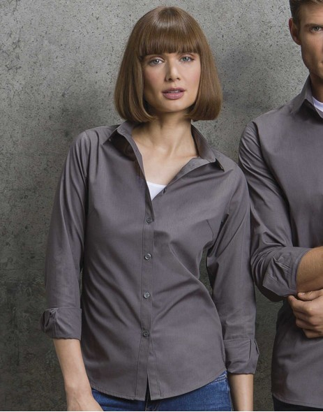 Camasa office poplin maneca lunga femei